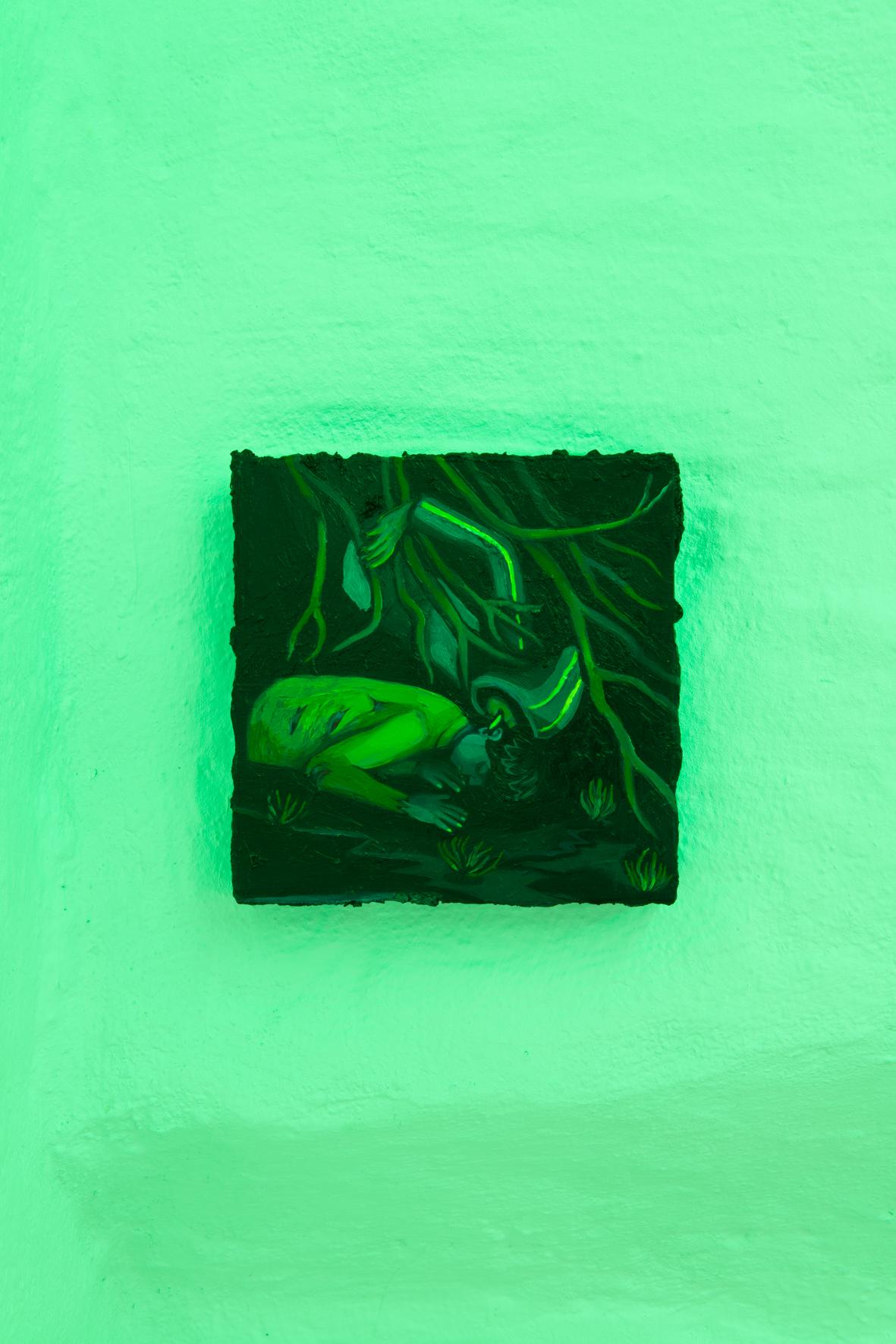 Giuliana Rosso, Erbacce, 2019, oil on canvas, 20 x 20 cm