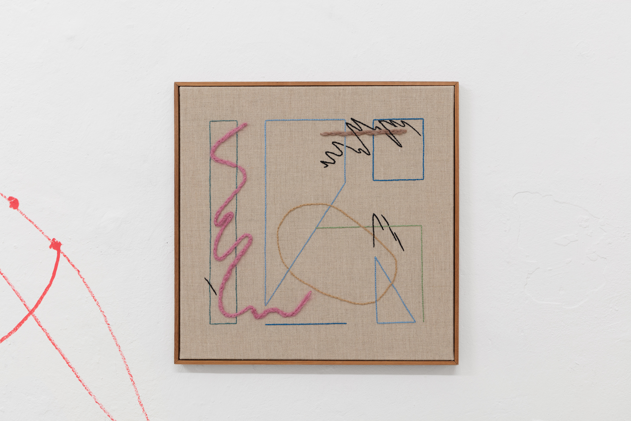 Nadine Byrne, Echoes (20), 2019, Embroidery on linen