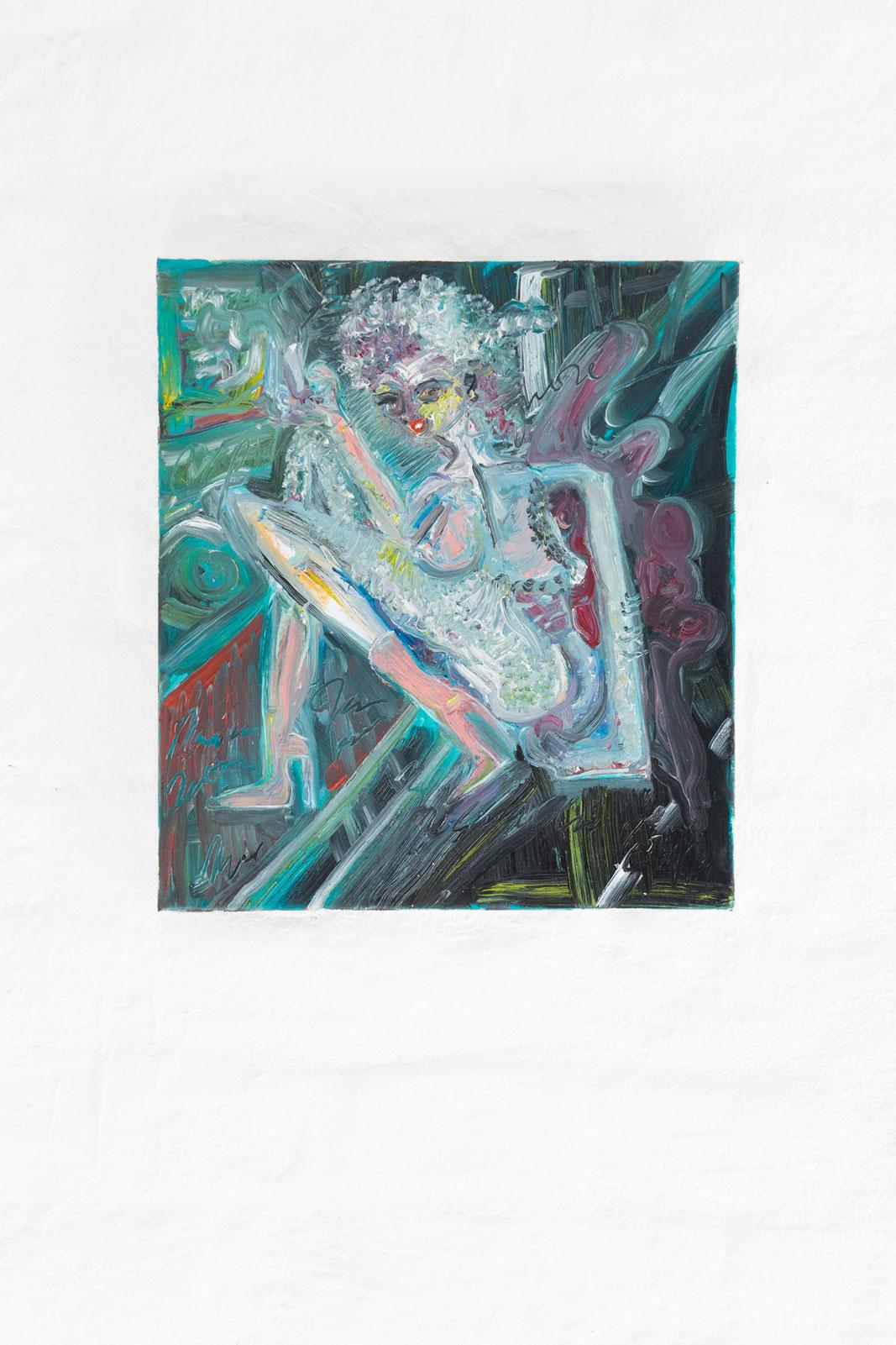 Joseph Geagan, La Guttersnipirina, 2018, Oil on canvas, 38 x 34 cm