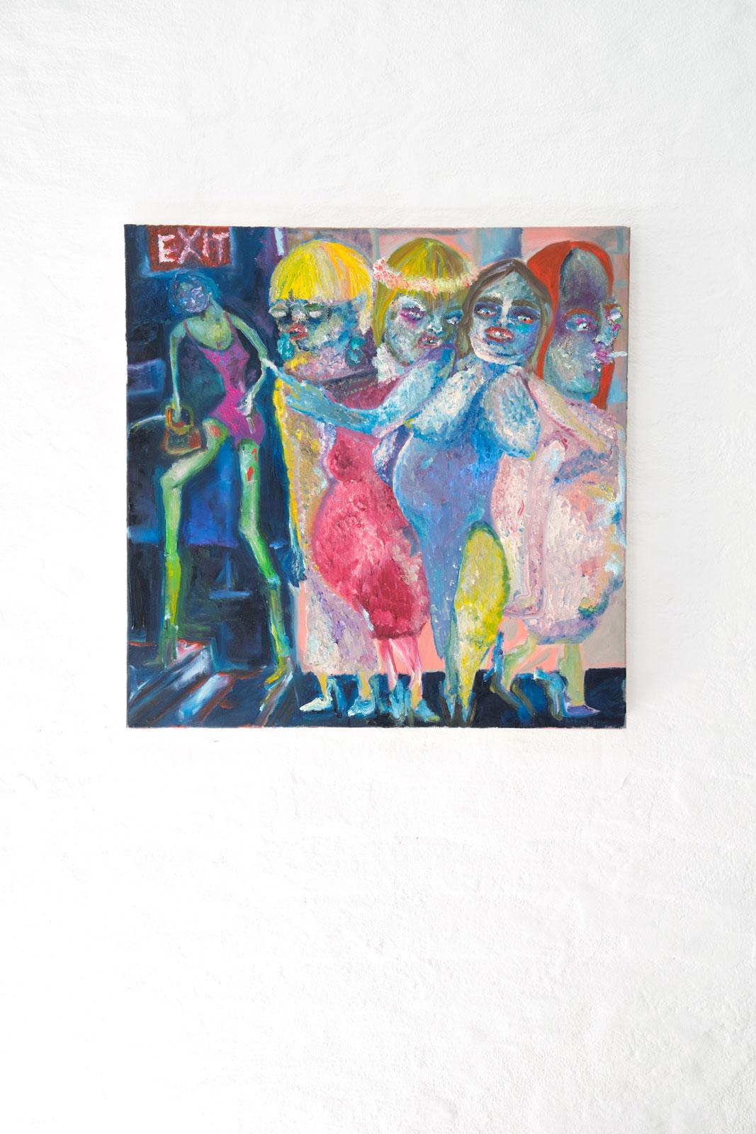 Joseph Geagan, Les Demoiselles von Kaiserschmarrn, 2018, Oil on canvas, 70 x 70 cm