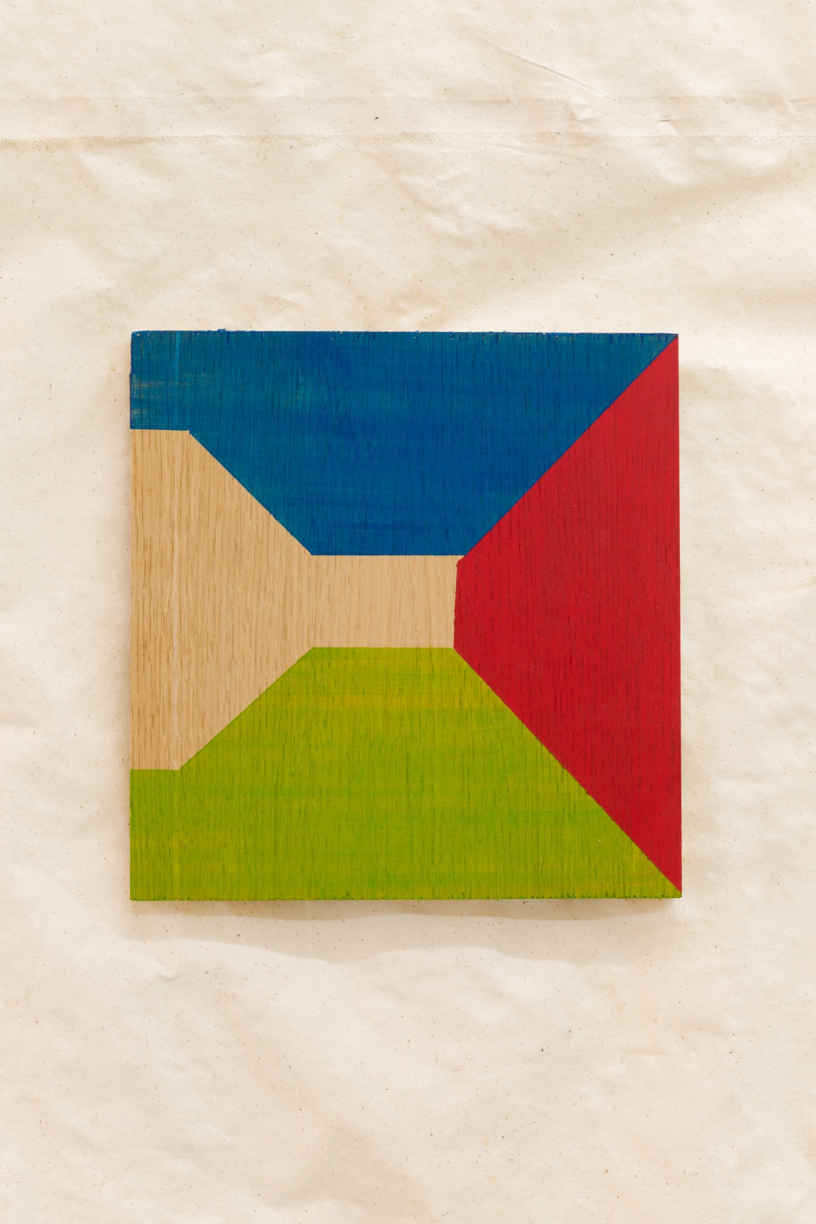 Charlie Jeffery, Illusions for people (again) #1 (blue/green/red), 2016 Acrylic paint on wood