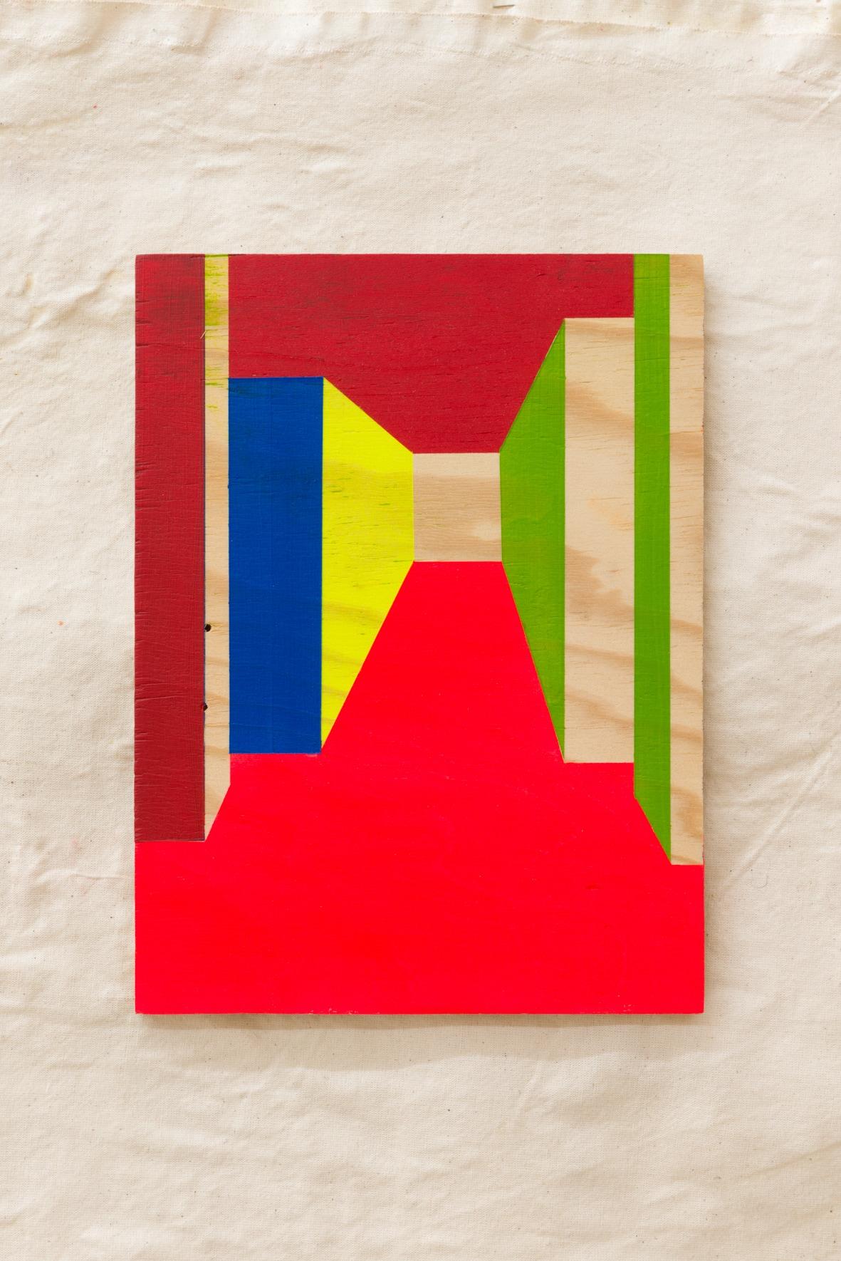 Charlie Jeffery, Corner Painting 2, 2016 Acrylic paint on wood
