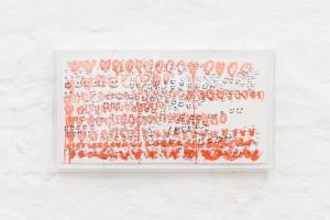 Amanda Burzić, (from the WASCHECHT series), 2019 Ink on paper, 20,7 x 37,7 cm (framed)