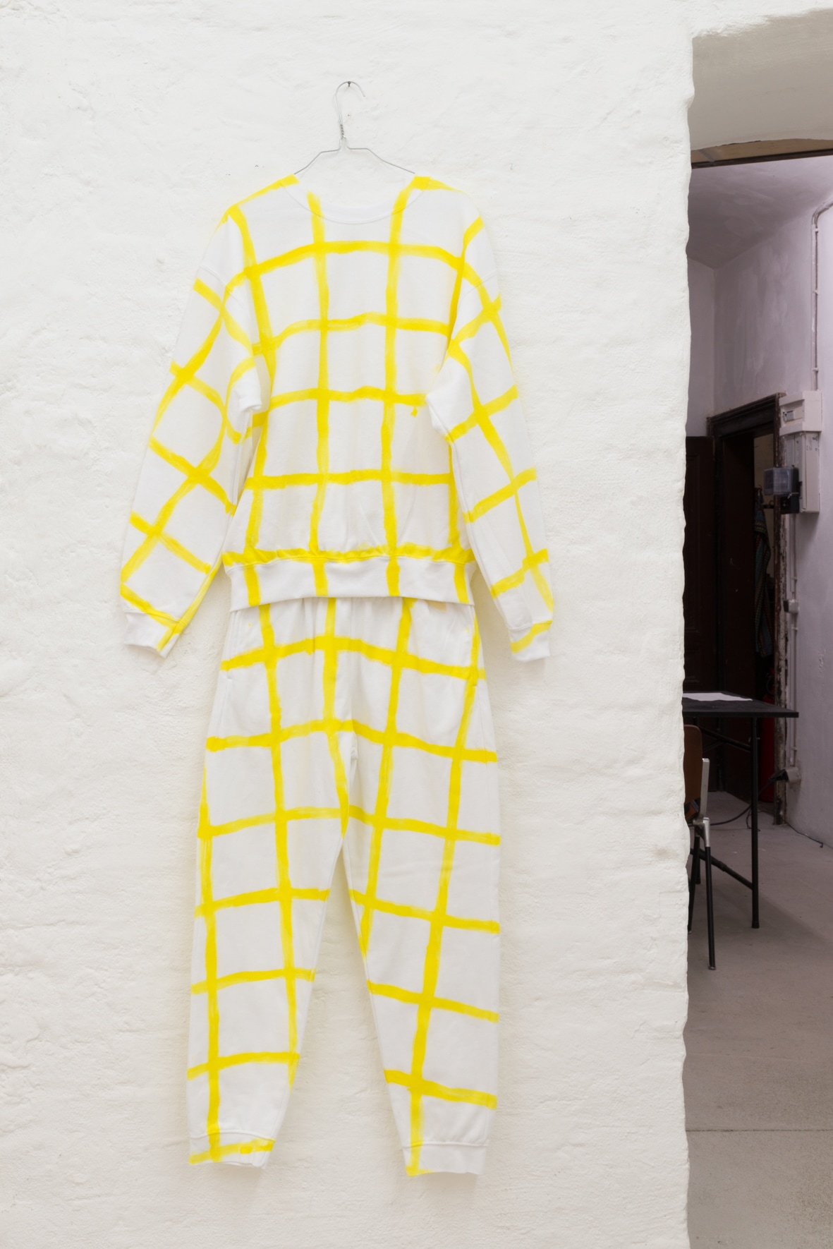 Christian Rothmaler, New Camouflage (Ich bin Alles), 2020/2021 Acrylic ink and acrylic paint on sweat suit