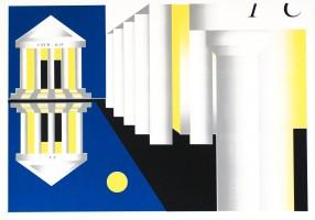 Sasha Auerbakh, Es, Ich, Über-Ich, 2017, silkscreen print on paper, 50x70. Edition of 5