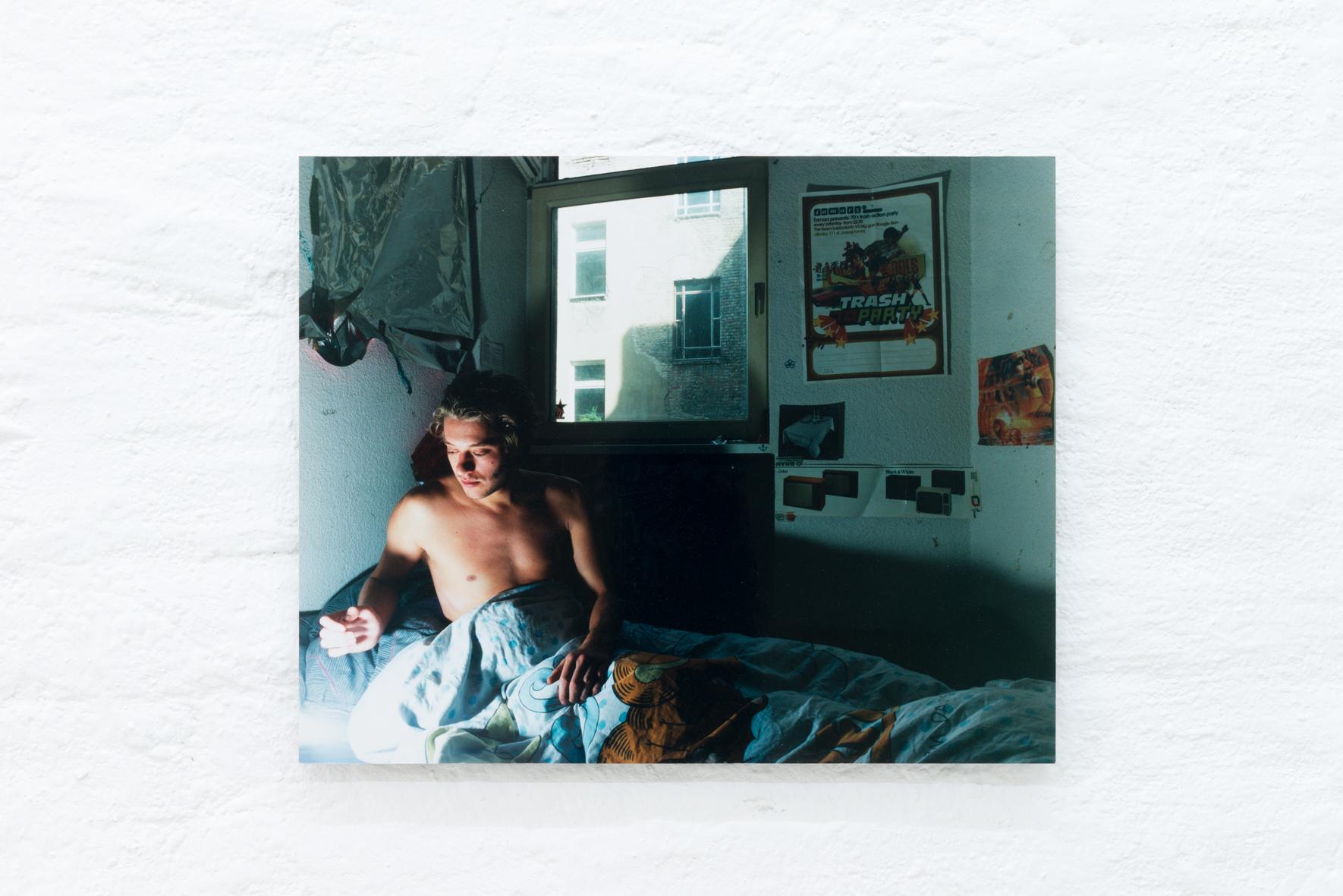 Christian Siekmeier: Untitled (Garfield), 2000; C-type print on steel; 16 x 20 inches